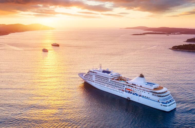 Cruise ship off coast of Croatia