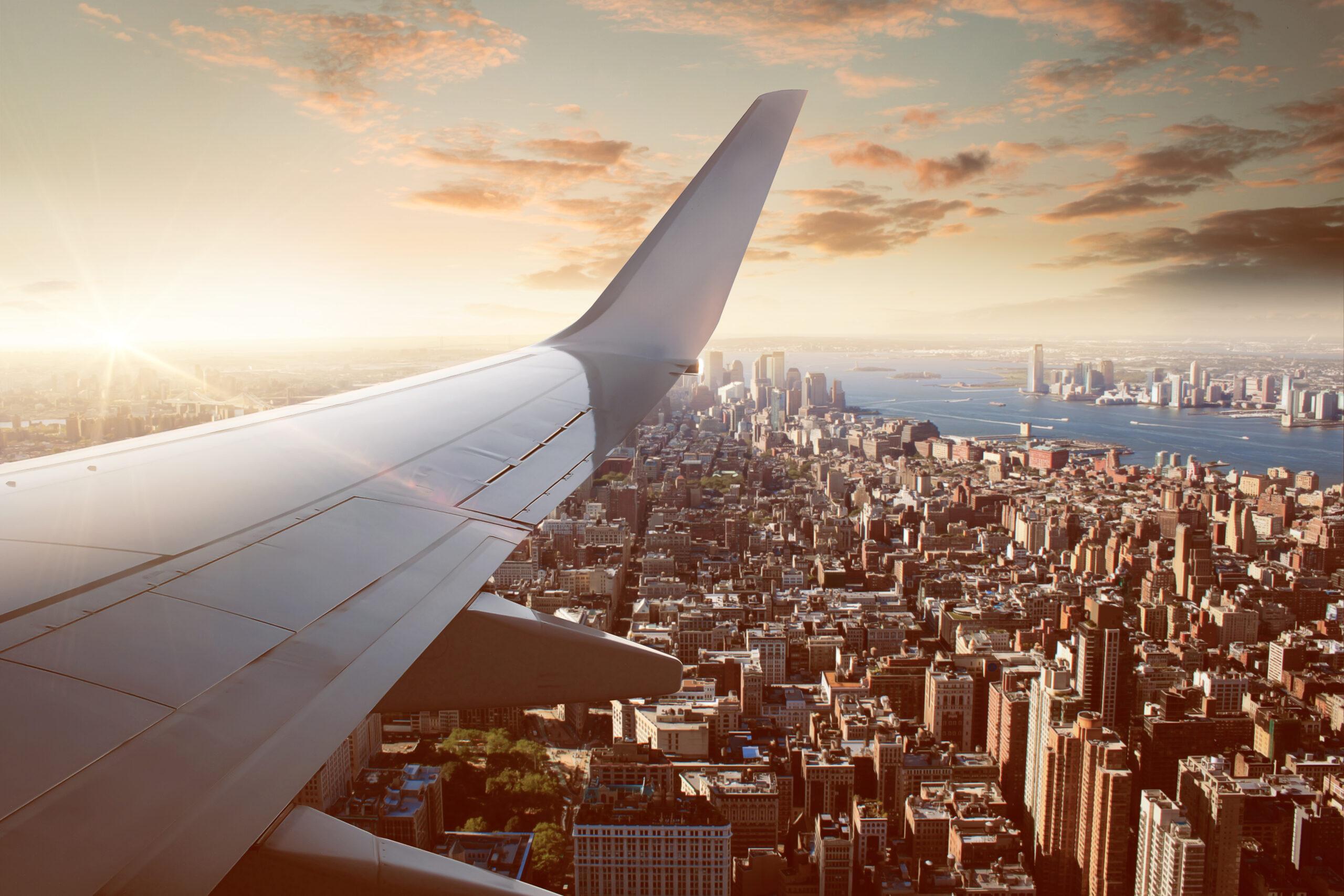 Flight over New York City