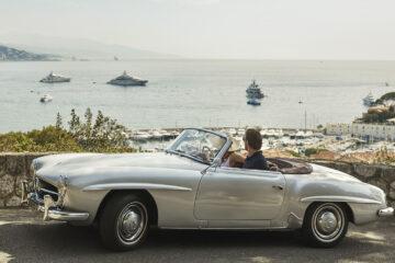 Four Seasons road trip in 1958 Mercedes