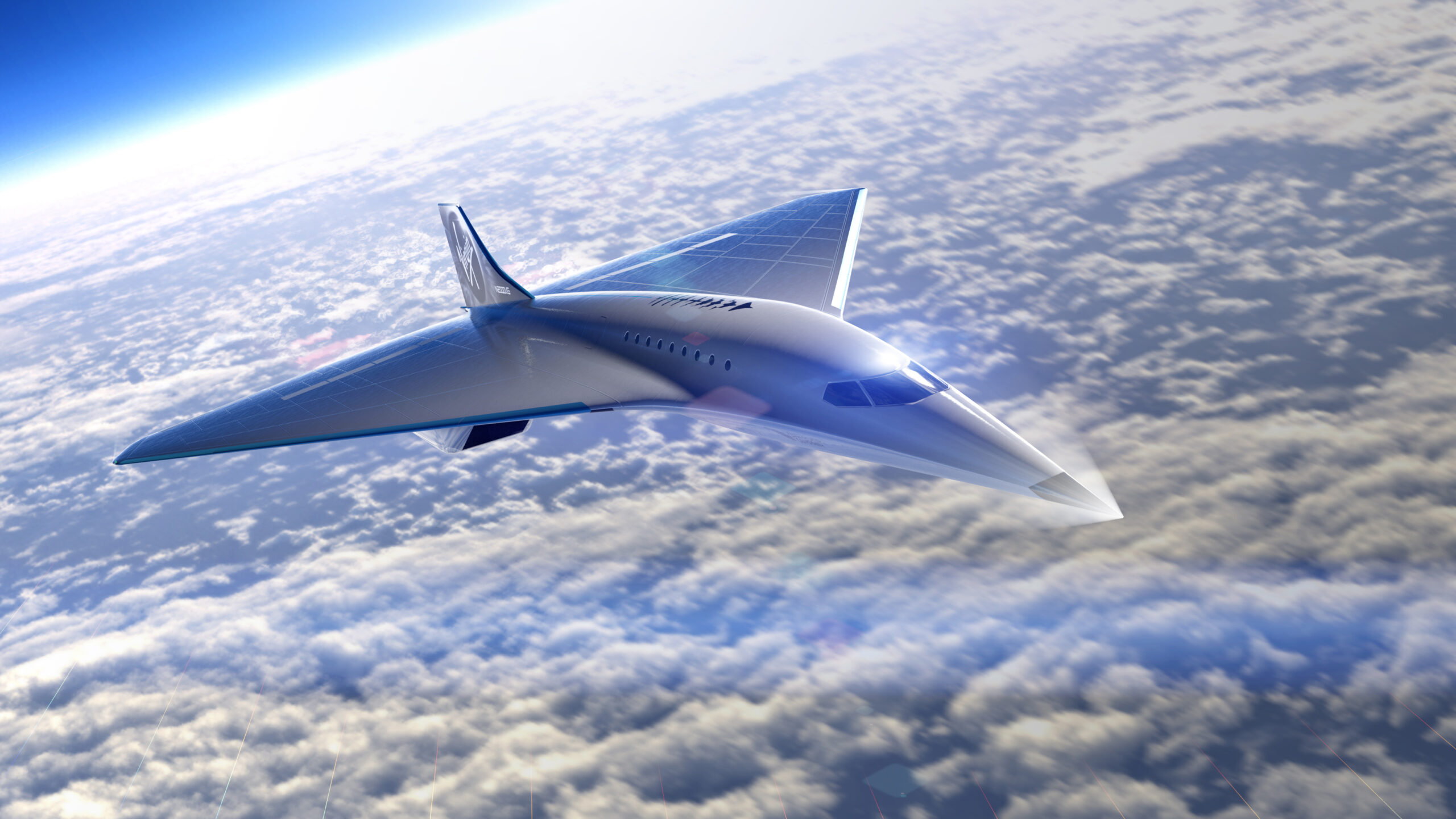 Virgin Galactic supersonic aircraft