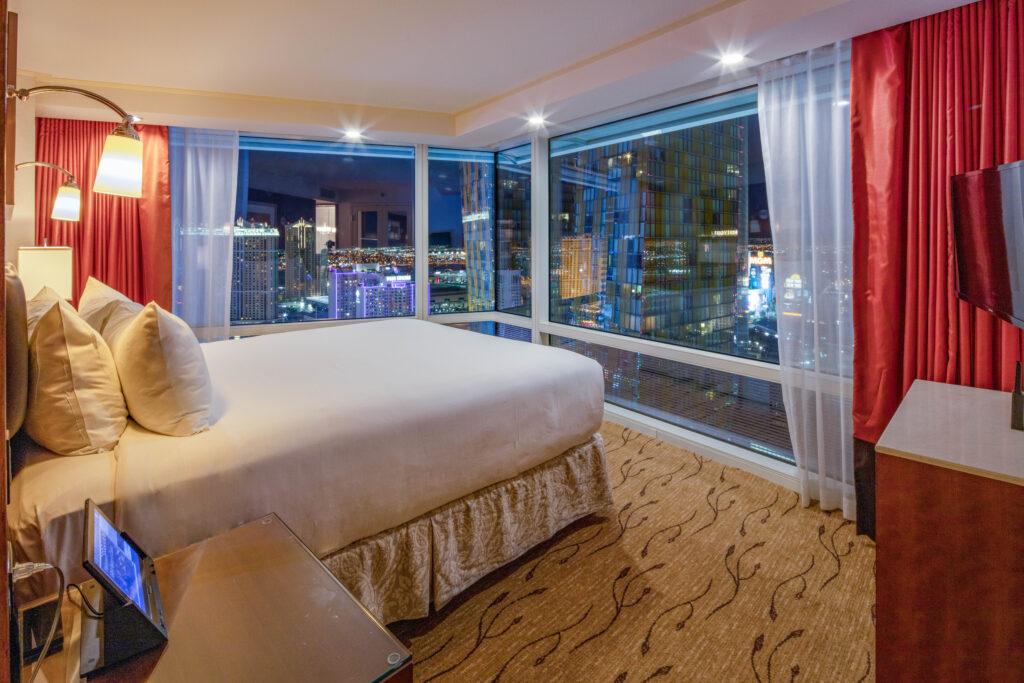 aria corner suite bedroom