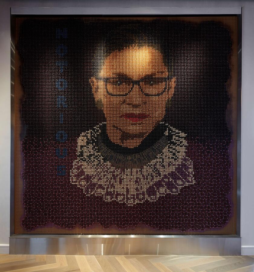 Portrait of Ruth Bader Ginsburg at Hotel Zena