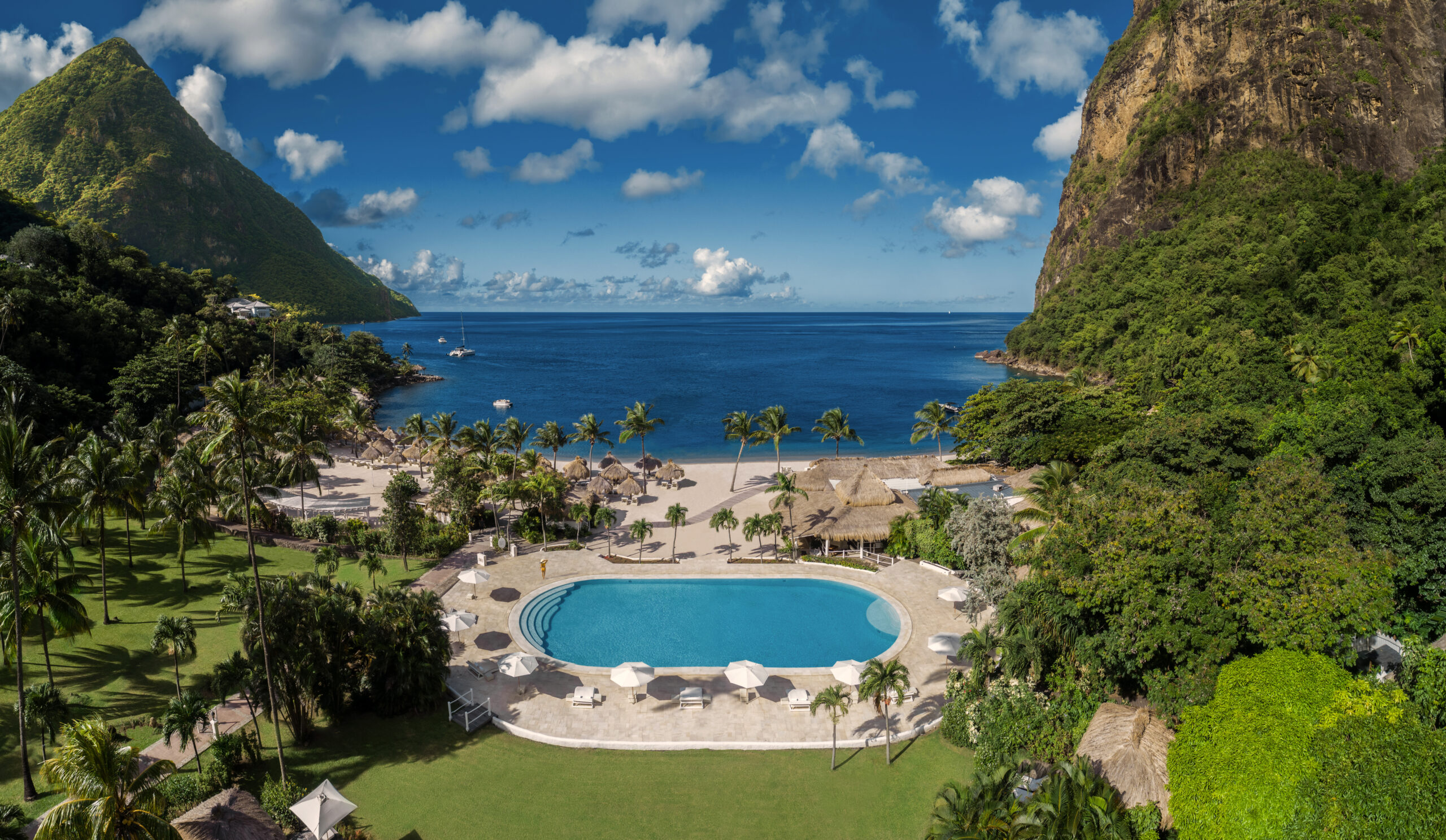 Pool at Sugar Beach, St Lucia