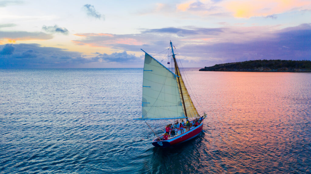 Sailing at Sunset in Anguilla