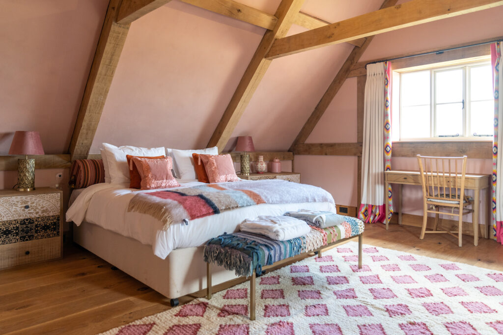 A Bedroom at The Cider House, Chapel Barn Estate