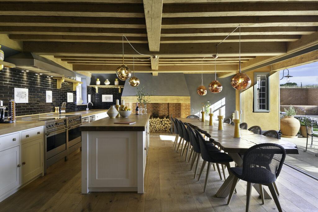 The kitchen at The Grange, Chapel Barn Estate