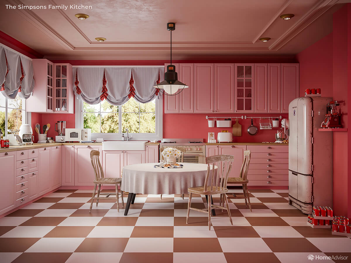 Home Advisor if Wes Anderson Designed The Simpsons Kitchen