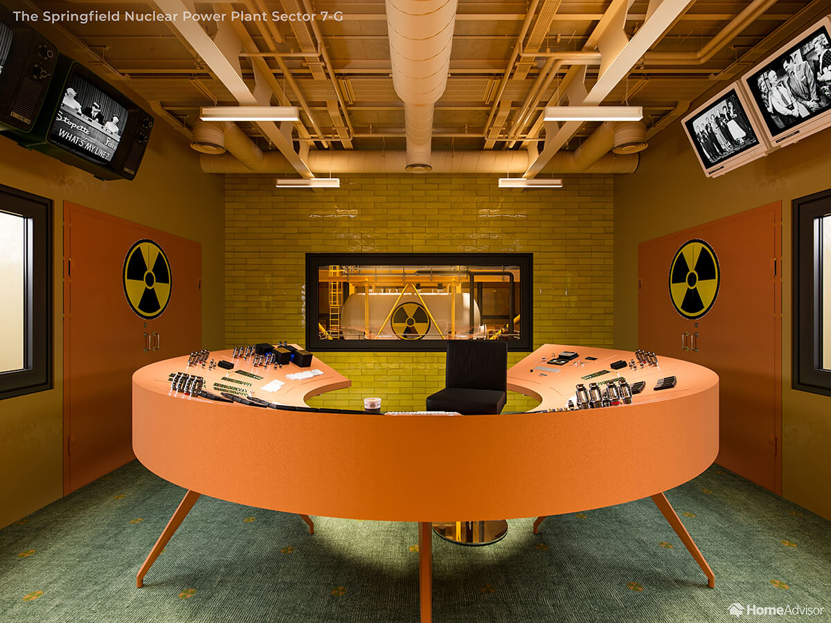 Home Advisor if Wes Anderson Designed The Simpsons Nuclear Power Plant