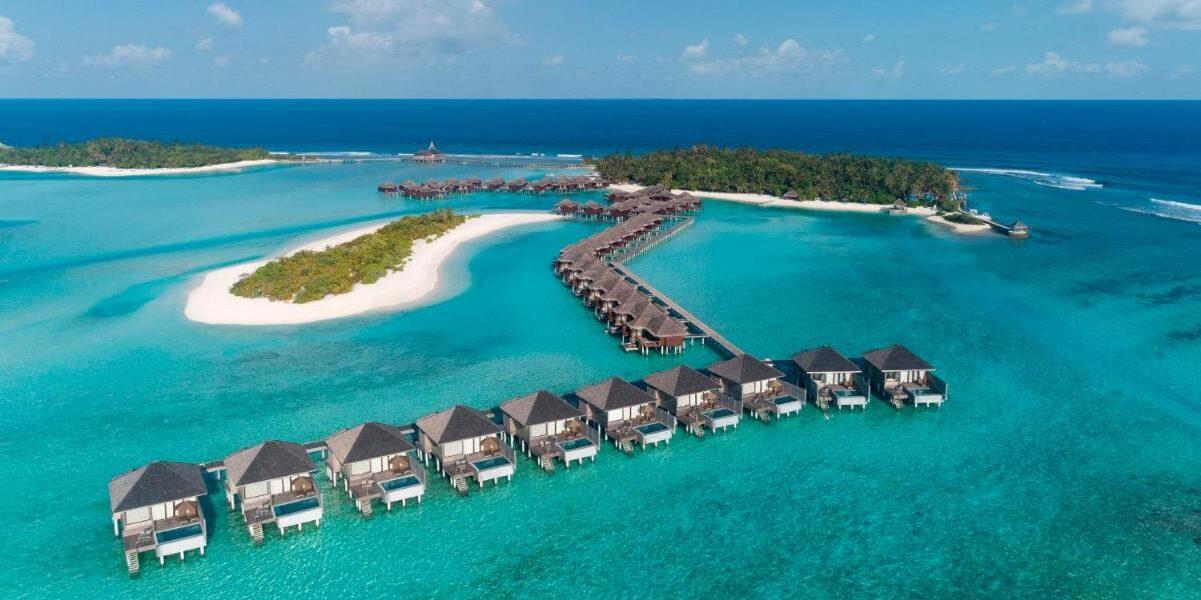 Anantara Veli Maldives, aerial shot