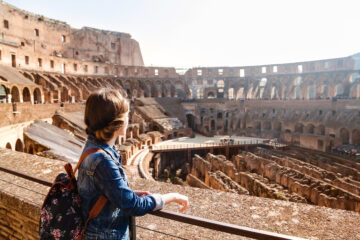Woman at Colosseum