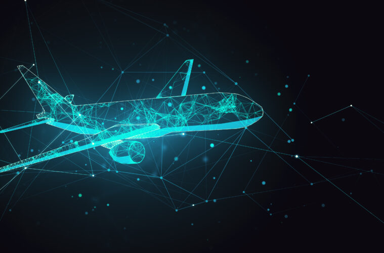 Futuristic plane