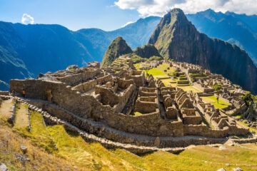 Panorama of Machu Picchu, Peru,South America.