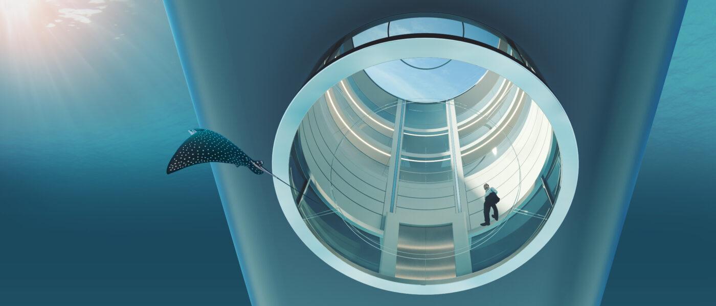 Feadship Escape yacht atrium