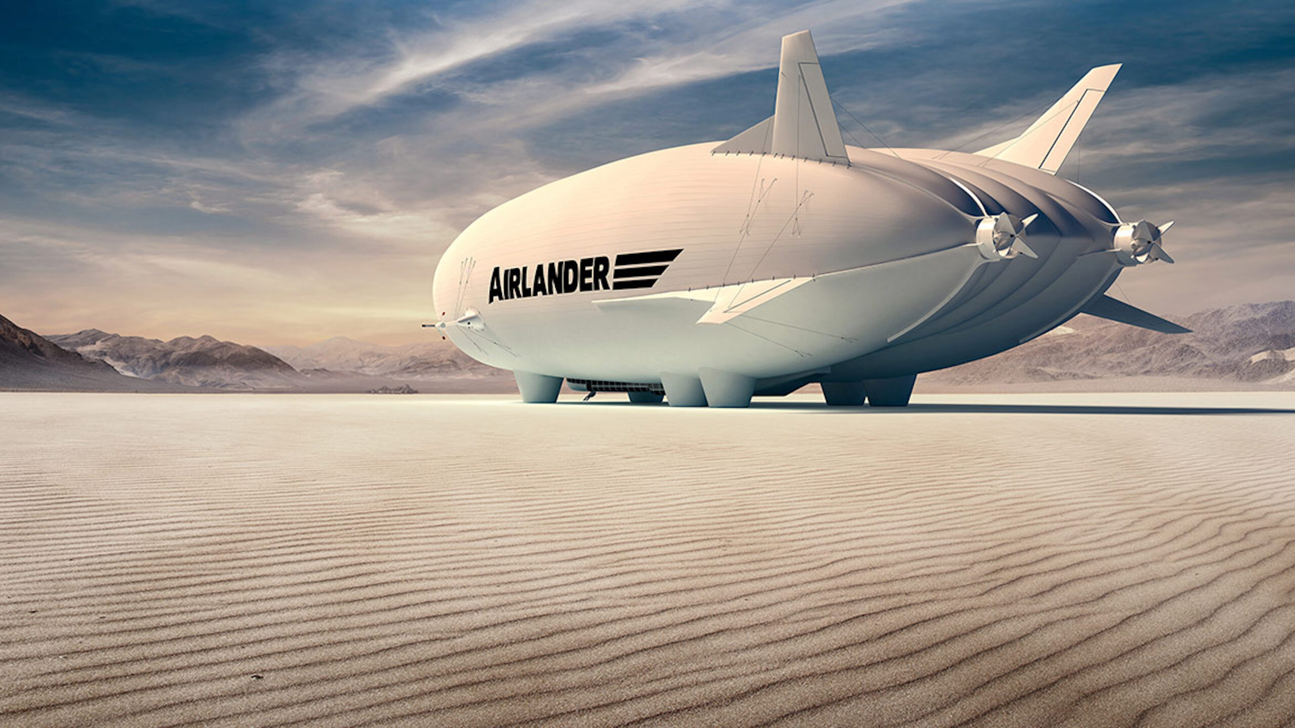 Airlander in the desert