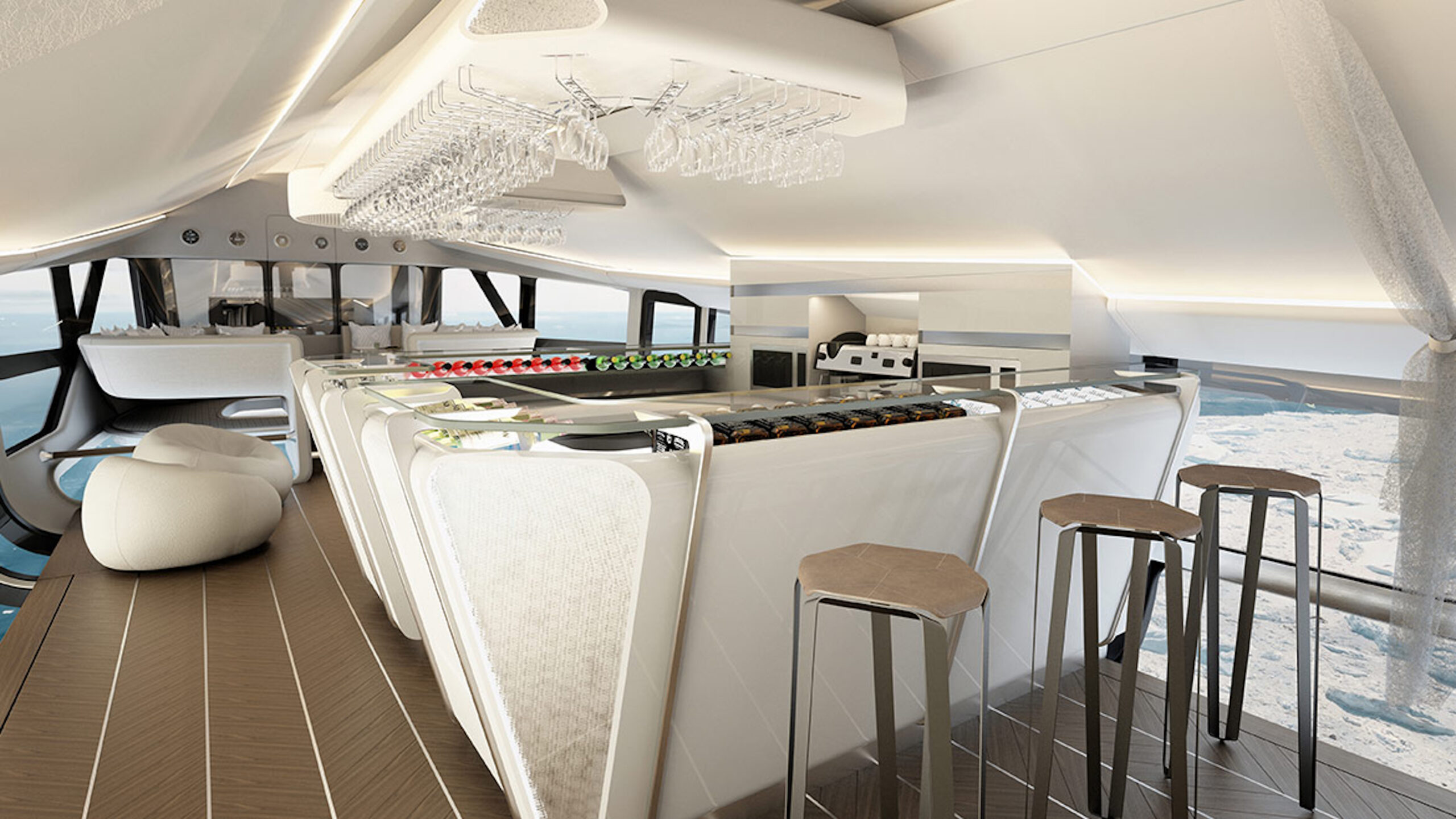 Airlander cabin bar