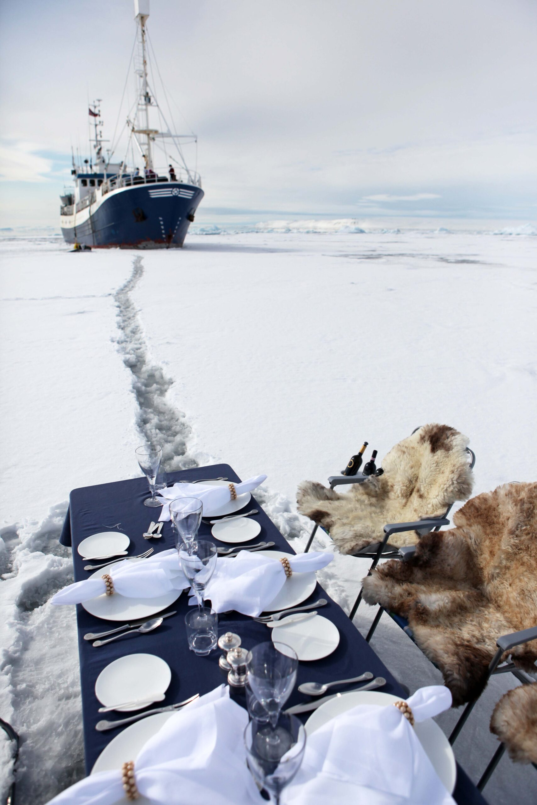A surprise set-up lunch on Svalbard_s icy fields