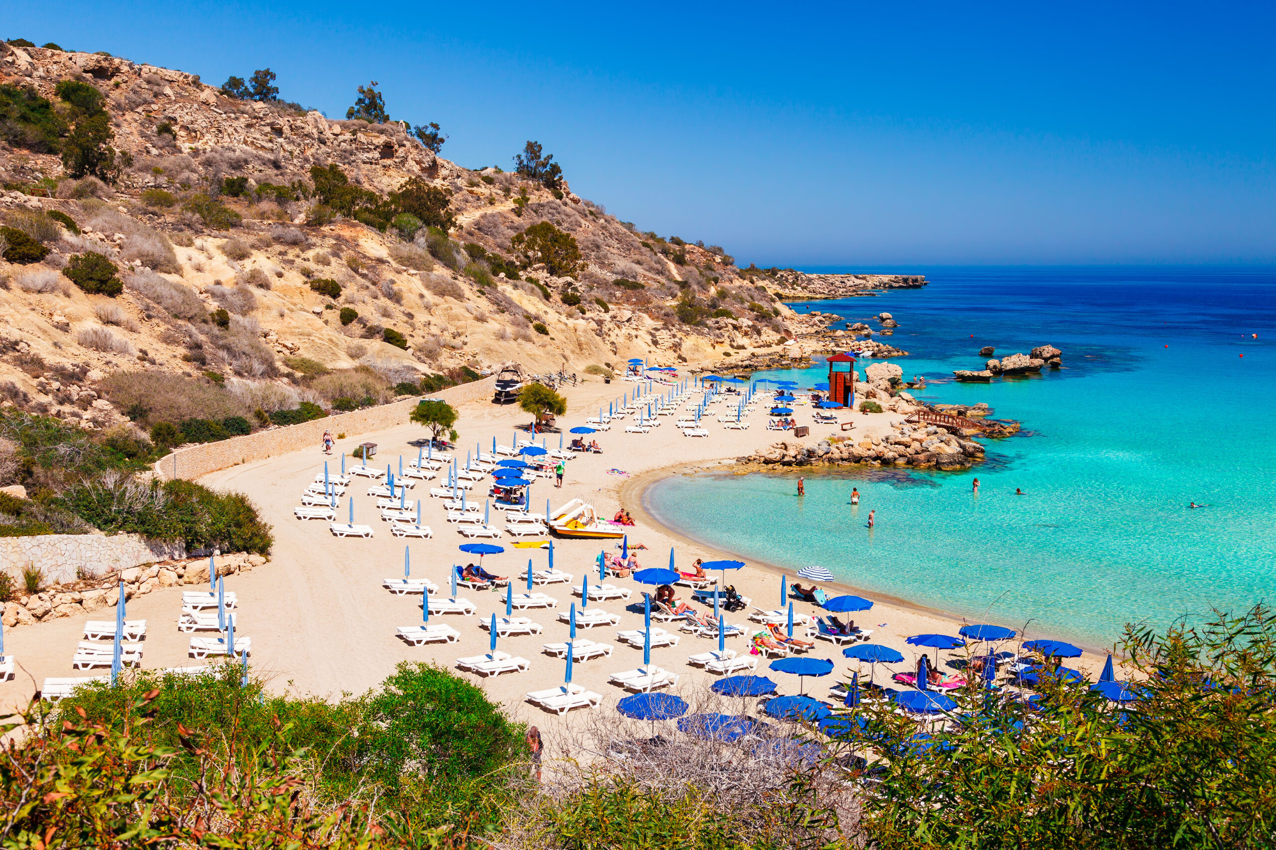 Nissi beach and Cavo Greco in Ayia Napa, Cyprus