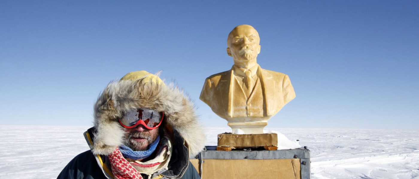 Henry Cookson next to the Statue of Lenin at the Southern POI