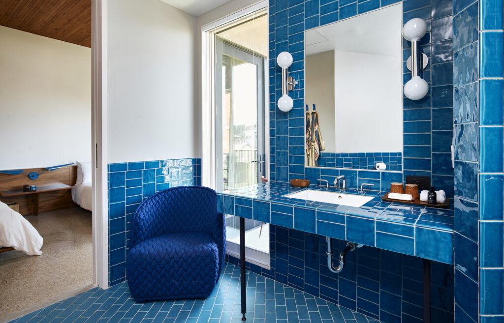 Hotel Magdalena - 10 Blue Room Bathroom - by Nick Simonite