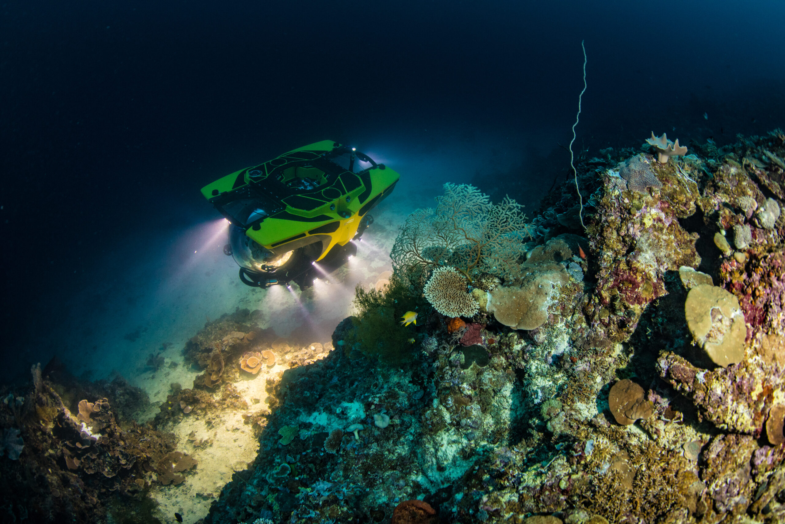 World first 7-seater submersible dive in the Solomon Islands with Cookson Adventures