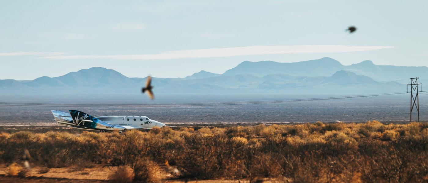 Virgin Galactic SpaceShipTwo Unity After Landing