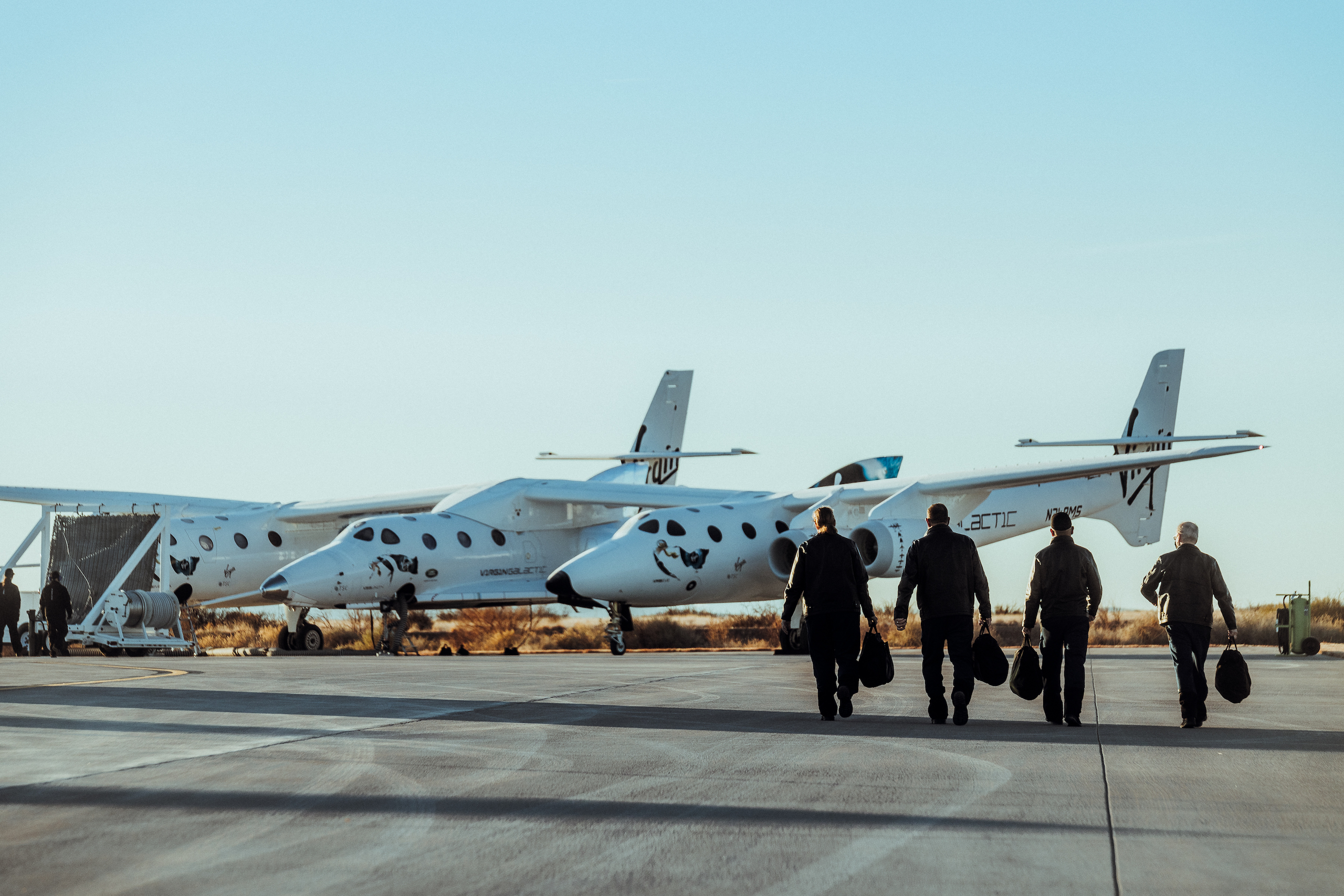 Virgin Galactic Pilots on their way to the Virgin Galactic Spaceflight System