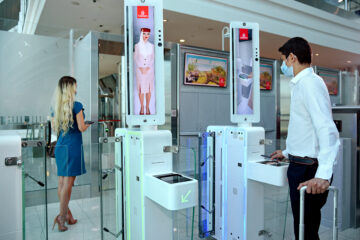 Emirates biometric path Dubai airport