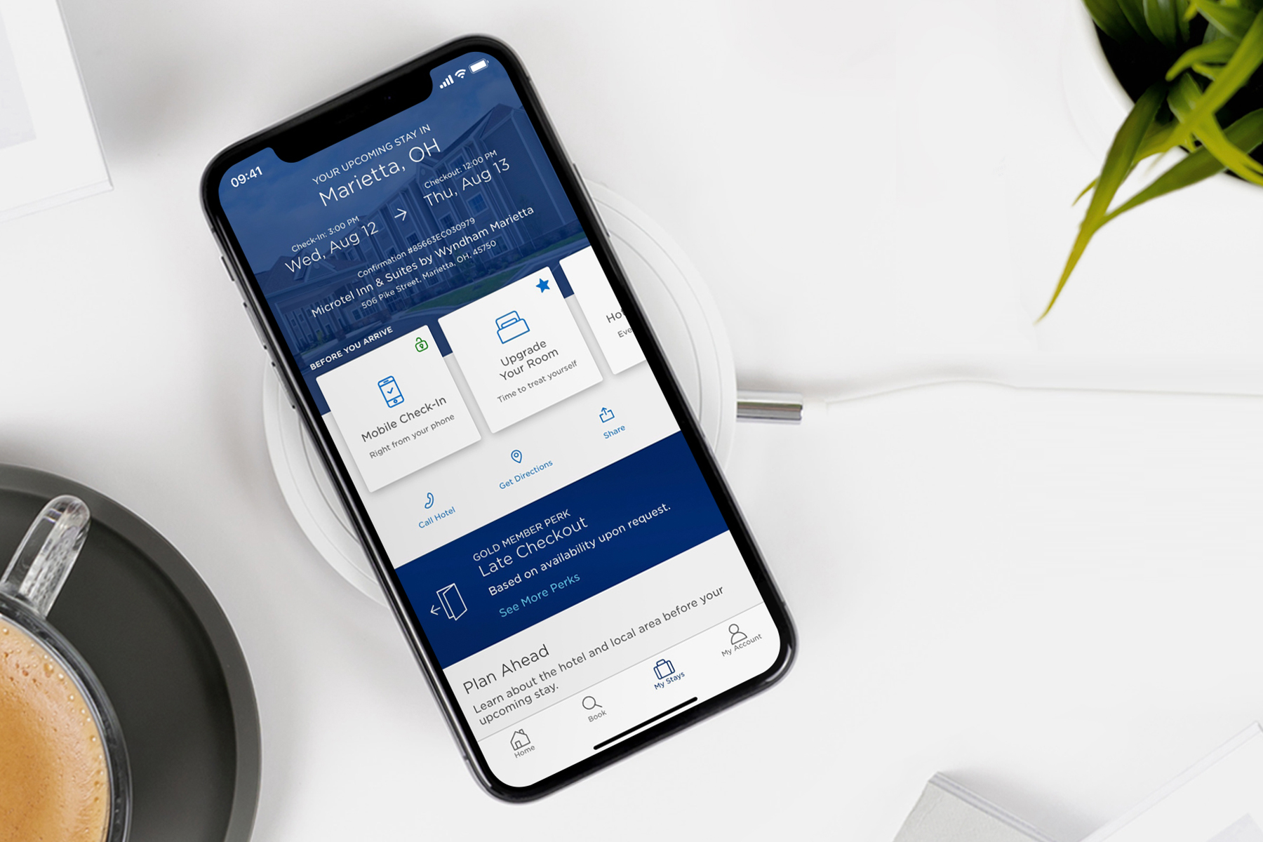 Wyndham Hotels mobile app