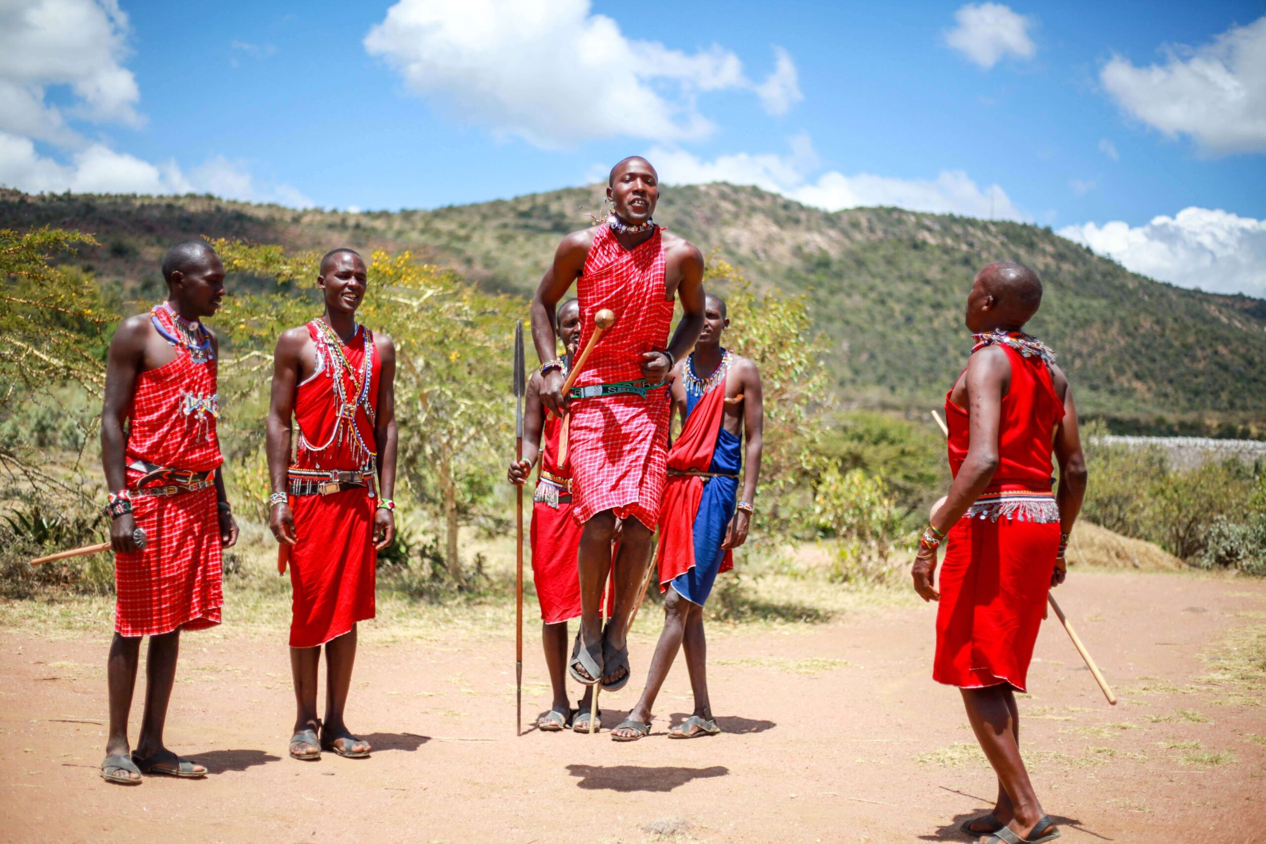 Adumu Safaris Maji Moto warrior jumping dance