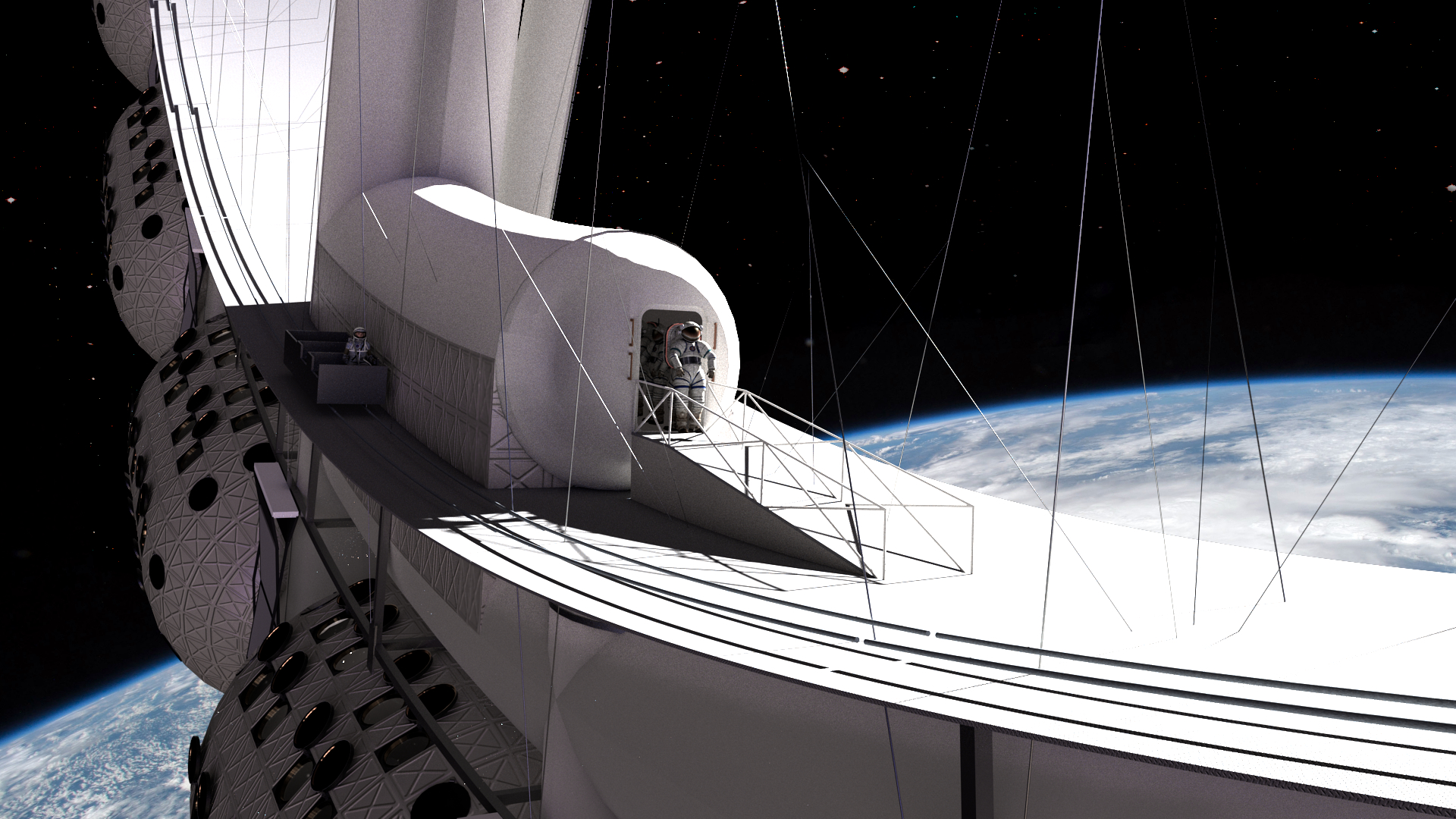 Orbital Assembly Voyager Station