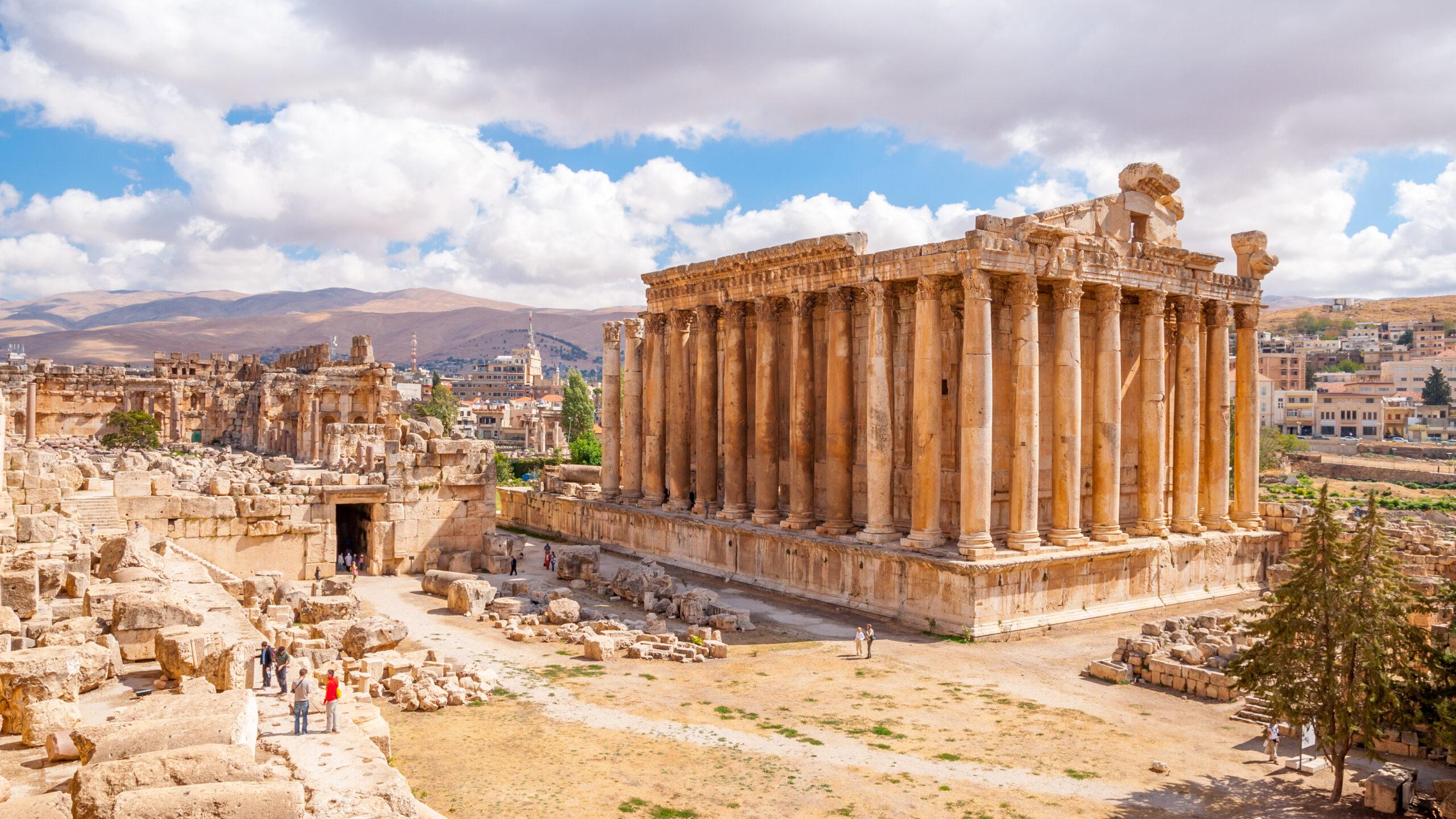 Bacchus temple in Baalbek, Lebanon