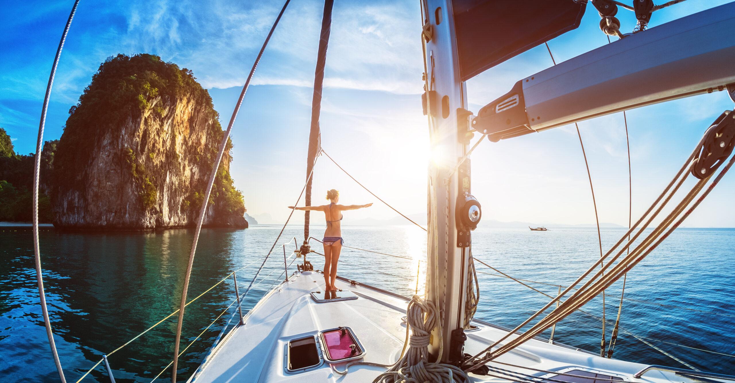 traveller on yacht