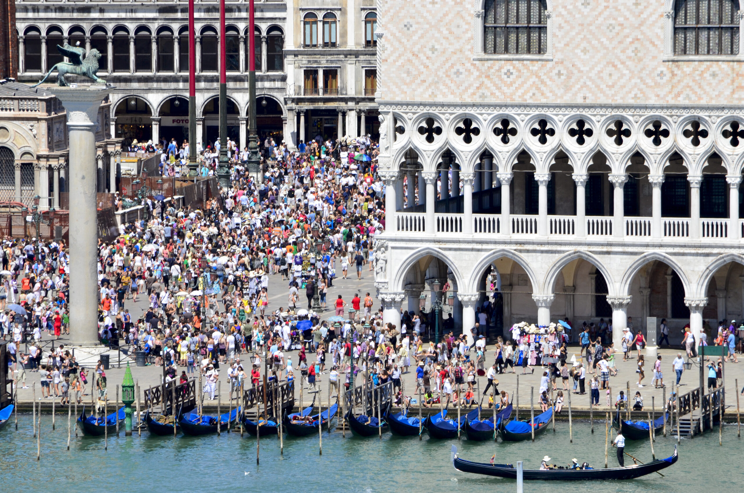Tourists in St Mark's Square, Venice