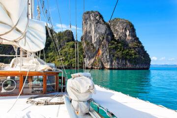 yacht in Phang Nga Bay, Phuket, Thailand