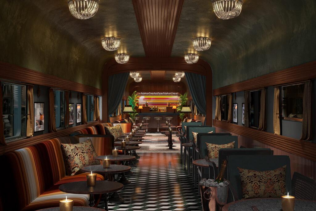 Life House Chattanooga; Train Car Cocktail Bar
