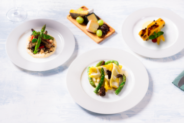 British Airways first class meal kits