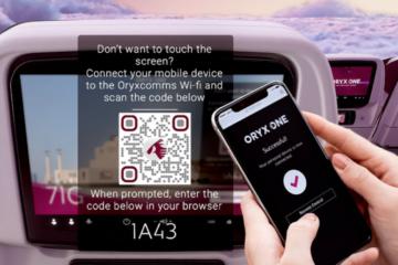 Qatar Airways zero touch IFE