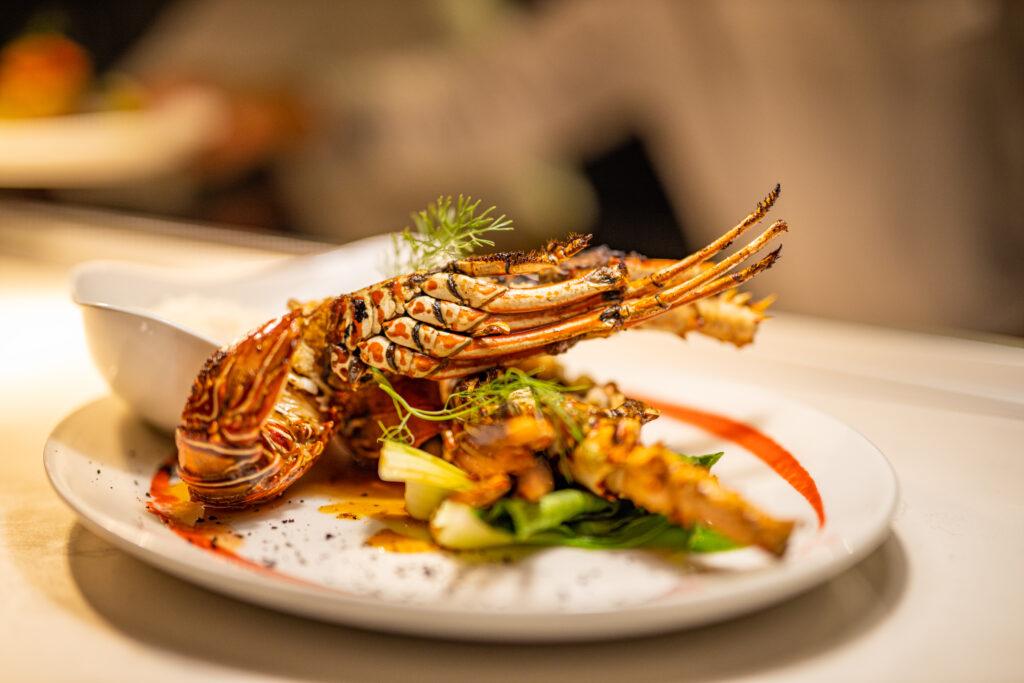 Grilled seafood at Grouper Grill, Iru Fushi
