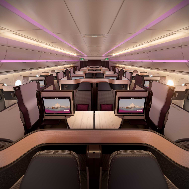 QSuite by Qatar Airways interior