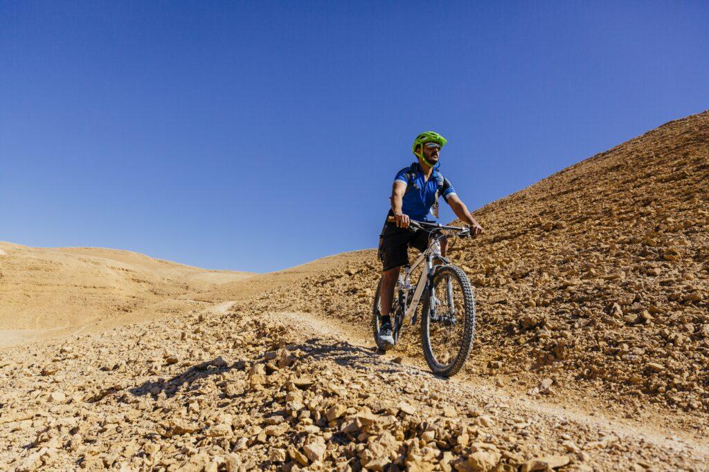 Biking at Six Senses Shaharut