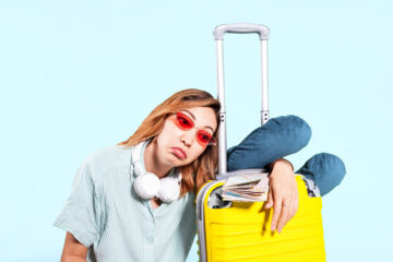 Stressed traveller