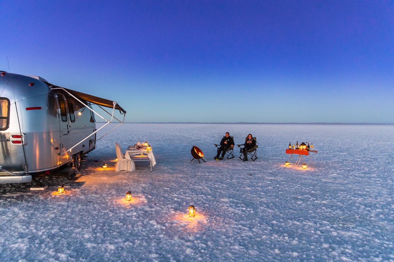 Scott Dunn Airstream, Uyuni salt flats © Michael Poliza