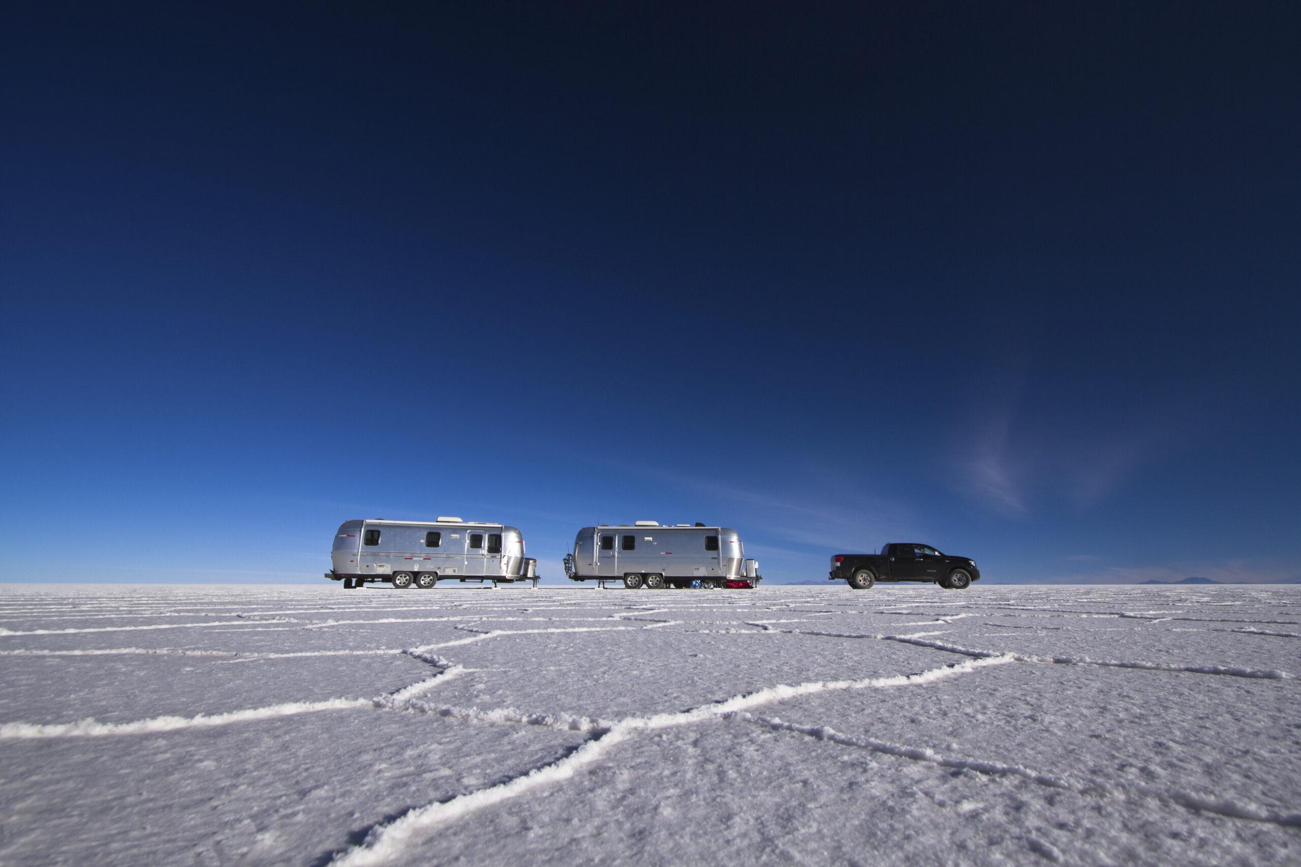 Scott Dunn Airstream, Uyuni salt flats © Andrew Dare Photography