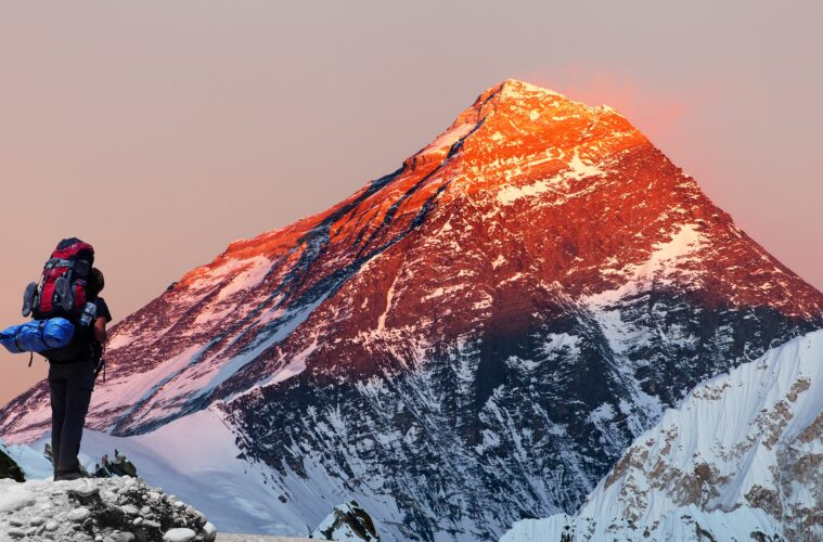 Mount Everest from Gokyo valley