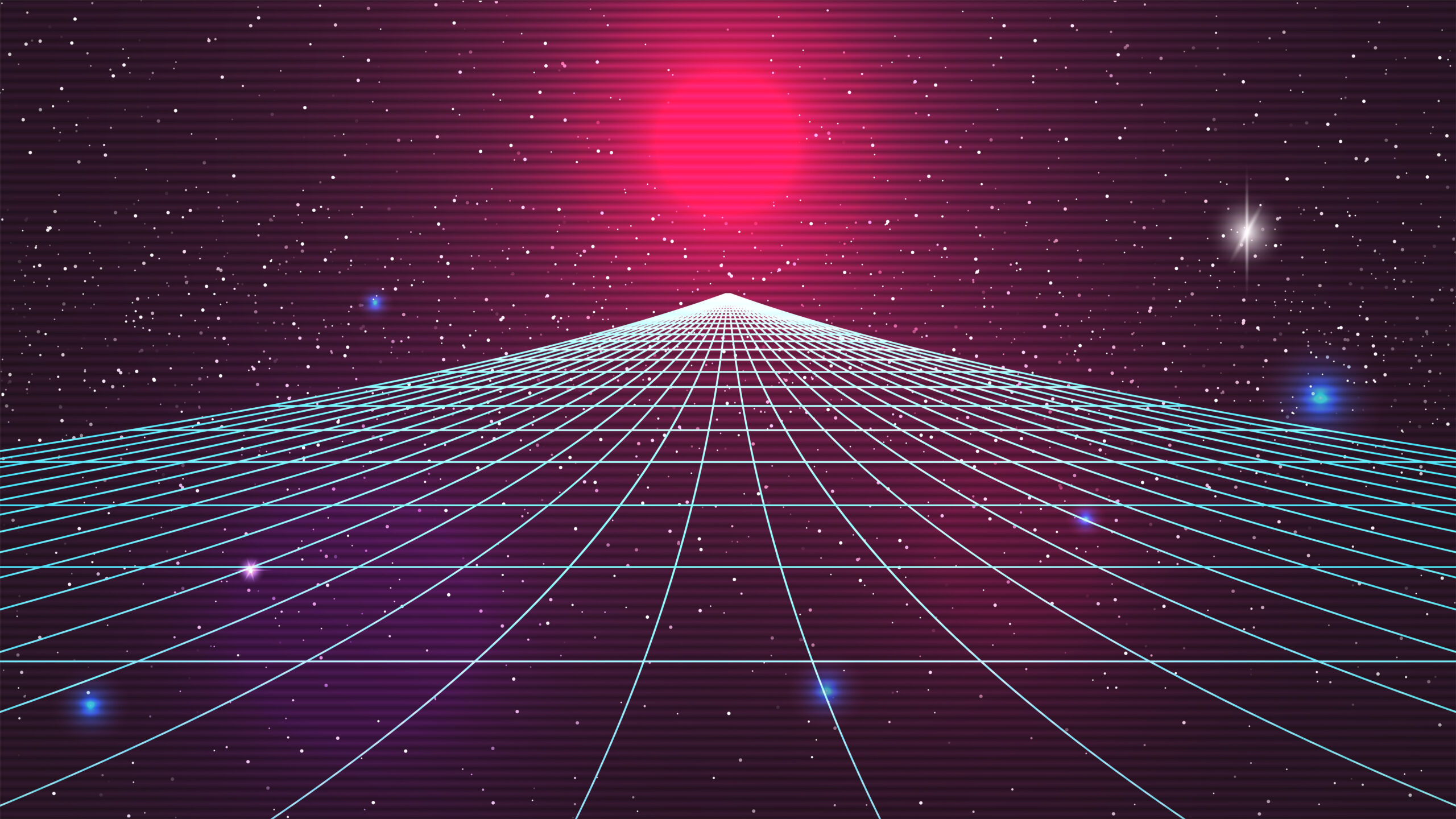 Synthwave sunset