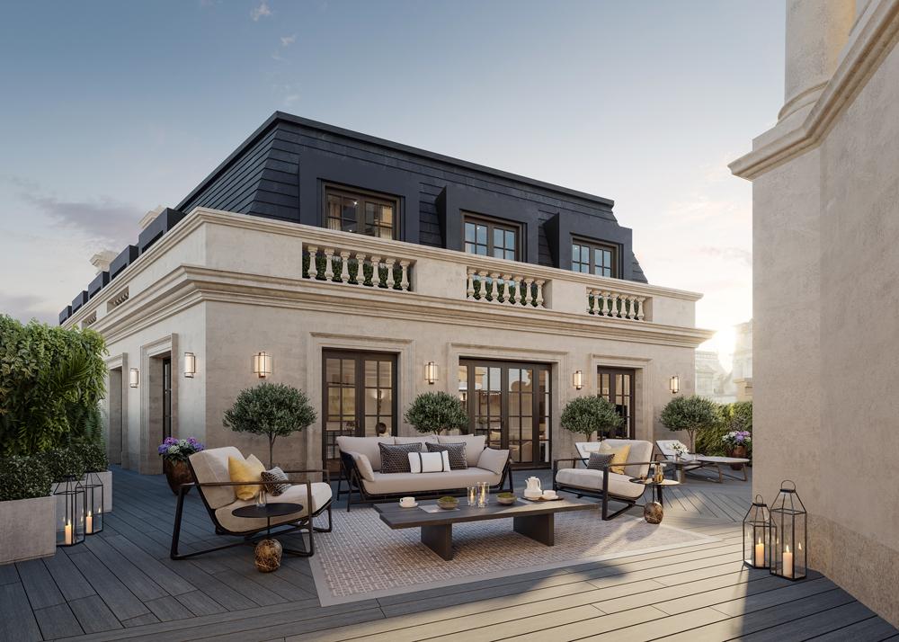 The OWO apartment terrace