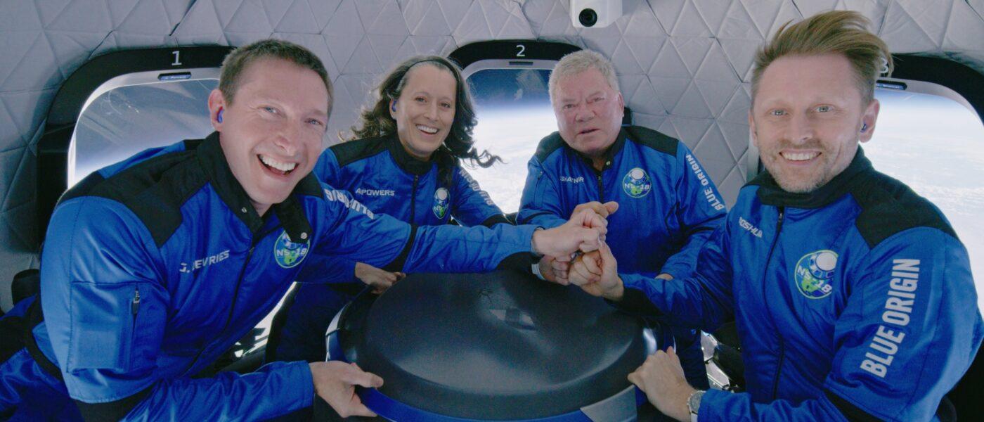 Blue Origin crew and William Shatner