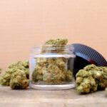 Marijuana in open jar